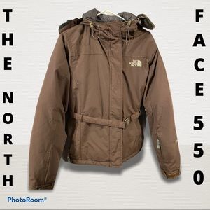 The North Face 550 Brown with belt Coat